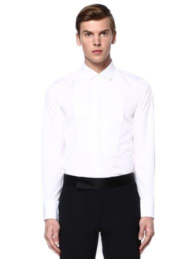 Dsquared2 Klasik Uzun Kollu Gömlek Beyaz